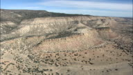 Passing Between Horse Mountain And Mesa Gallina  - Aerial View - New Mexico,  Valencia County,  United States video