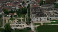 Passing Pommard  - Aerial View - Bourgogne, Cote d'Or, Arrondissement de Beaune, France video