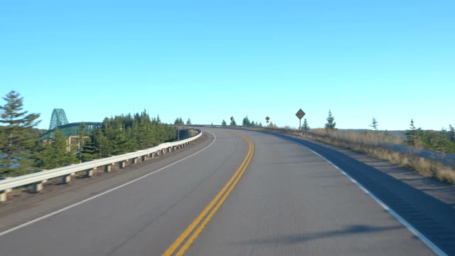 FPV, CLOSE UP: Passing the Seal Island Bridge and the Great Bras D'Or Lake video