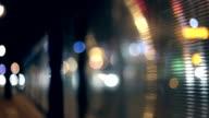 Passing Tramway, Bus, City at Night video