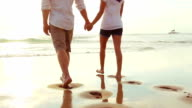 Passionate Couple in Love at Beach Sunset video