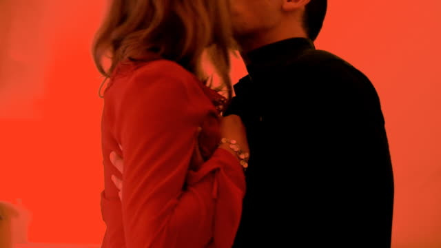 Passionately kissing video
