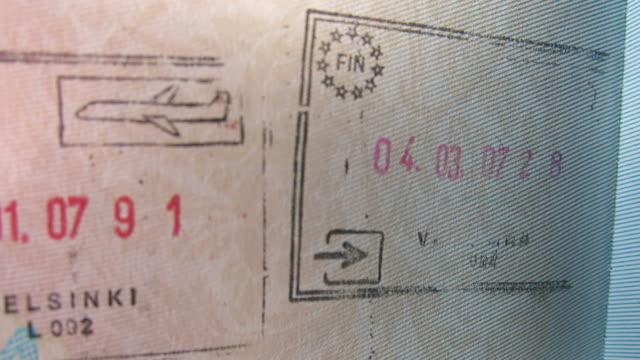 Passport stamp, Helsinki, Finland video