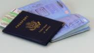 Passports & Airplane Ticket HD video