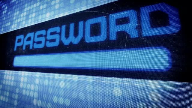 Password text in pixel design video