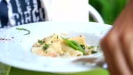Pasta close up video