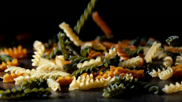 Pasta Fusilli Tri Colore Falling Down video