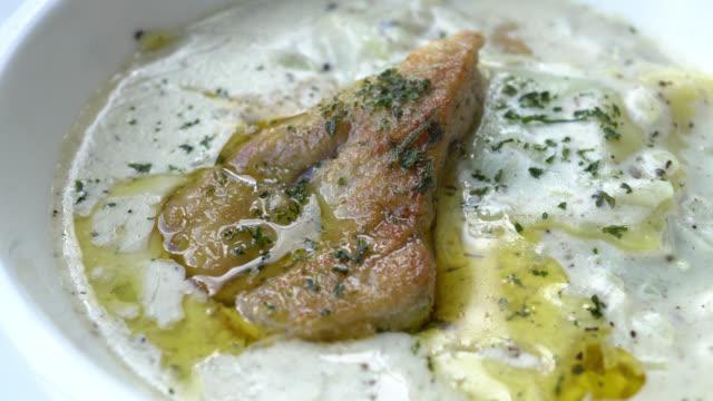 Pasta with foie gras video