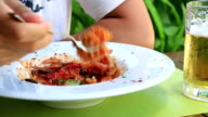 Pasta with tomato sauce and parmesan video