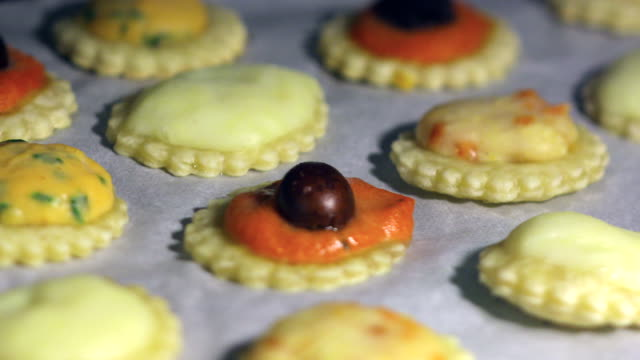 Pastry in the oven video