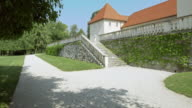 LD Path along a castle in Slovenia video