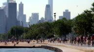 Path and City Skyline video