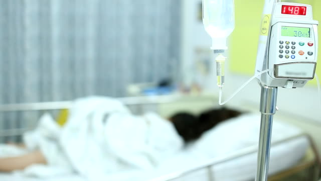 Patient in Hospital with Saline Solution video