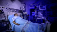 Patient in the postoperative room video
