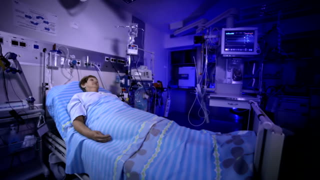 Patient in the postoperative room video