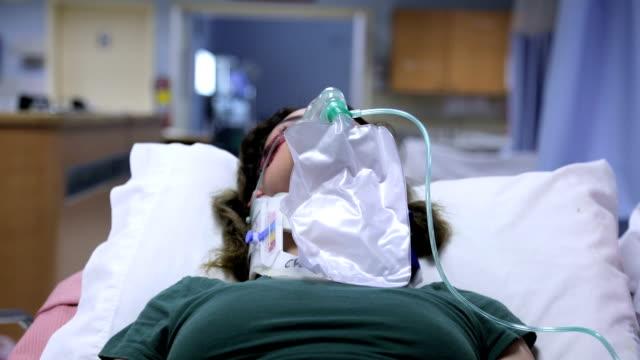 Patient on stretcher video