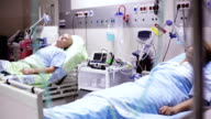 Patients are llying in the Post Operation Room video