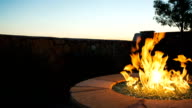 Patio Fireplace Rise and LowerOver Backyard Wall video