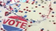 Patriotic election still life video