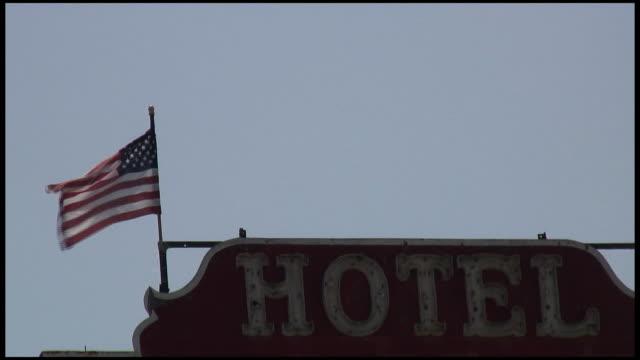 (HD1080i) Patriotic Hotel Under American Flag video