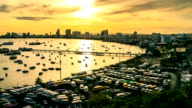 Pattaya Pier Sunrise video