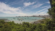 Pattaya sea beach city Thailand,Time lapse. video