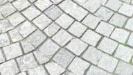 Paving stone texture. video