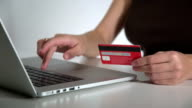 pay with credit card online on laptop video