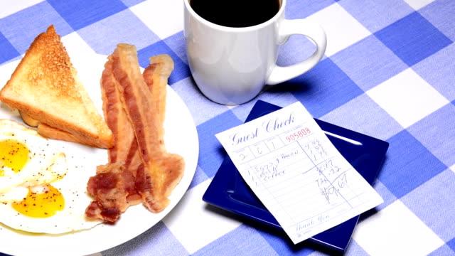Paying breakfast bill video