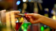 HD: Paying Drink With Credit Card video