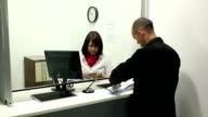 Paying money in at Bank to Teller video