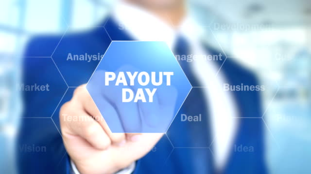 Payout Day, Man Working on Holographic Interface, Visual Screen video