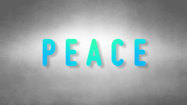 Peace headband. Text from sand. With black background video