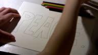 Peace Please. Illustration - (Time Lapse) video