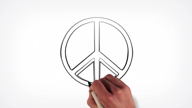 Peace Sign Whiteboard Stop-Motion Style Animation video