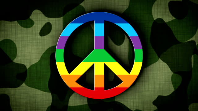 Peace Symbol in Military Gate, Loop video