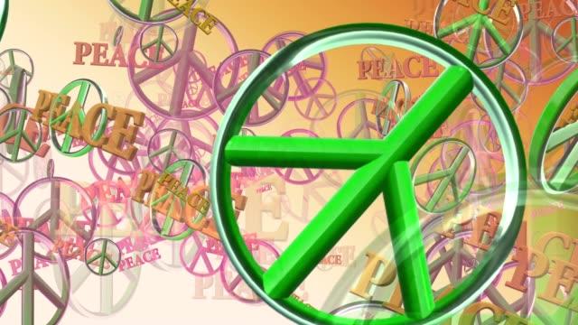 Peace symbols in green video