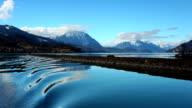 Peaceful lake Thun and Alps video