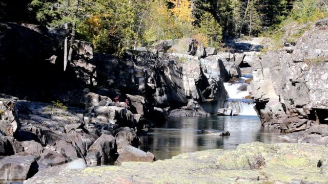Peaceful Mountain Stream With Rapids and Falls video