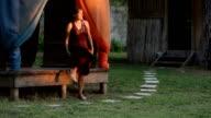Peaceful Woman in Garden video