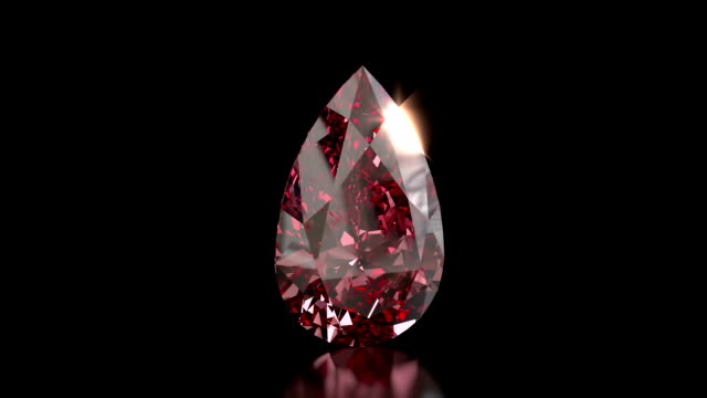 Pear shaped ruby gemstone video
