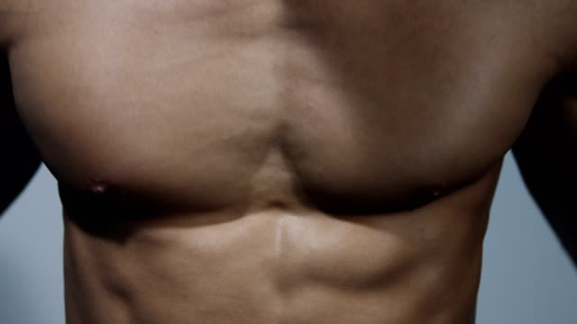 Pectoral Muscle Extreme Close Up video
