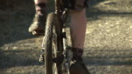 Pedalling on a Mountain Bike - HD & PAL video