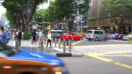 Pedestrian commuting and vehicle traffic video