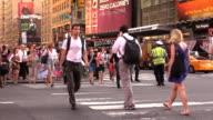 Pedestrian Crosswalk at Times Square New York City video