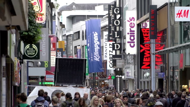 Pedestrian crowded at Shopping Zone video