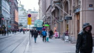 Pedestrian Crowed At Helsinki, Finland video
