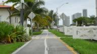 Pedestrian path in motion video