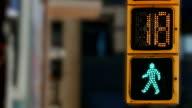 Pedestrian semaphore. video