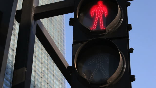 pedestrian stop and walk signal video